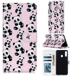 Cute Panda 3D Relief Oil PU Leather Wallet Case for Samsung Galaxy A20s
