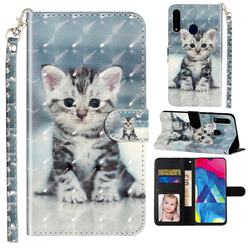 Kitten Cat 3D Leather Phone Holster Wallet Case for Samsung Galaxy A20s