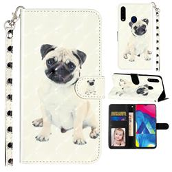 Pug Dog 3D Leather Phone Holster Wallet Case for Samsung Galaxy A20s