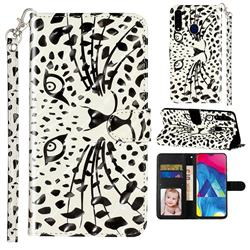 Leopard Panther 3D Leather Phone Holster Wallet Case for Samsung Galaxy A20s
