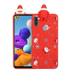 Snowflakes Gloves Christmas Xmax Soft 3D Doll Silicone Case for Samsung Galaxy A21