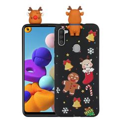 Gift Snow Christmas Xmax Soft 3D Doll Silicone Case for Samsung Galaxy A21