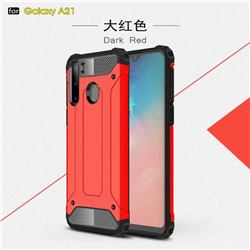 King Kong Armor Premium Shockproof Dual Layer Rugged Hard Cover for Samsung Galaxy A21 - Big Red