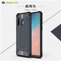 King Kong Armor Premium Shockproof Dual Layer Rugged Hard Cover for Samsung Galaxy A21 - Navy