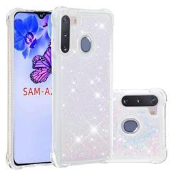 Dynamic Liquid Glitter Sand Quicksand Star TPU Case for Samsung Galaxy A21 - Pink
