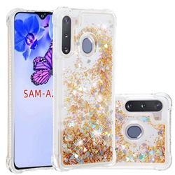Dynamic Liquid Glitter Sand Quicksand Star TPU Case for Samsung Galaxy A21 - Diamond Gold