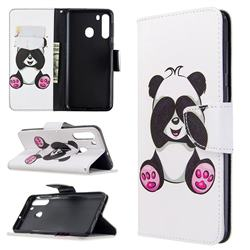 Lovely Panda Leather Wallet Case for Samsung Galaxy A21