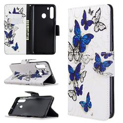 Flying Butterflies Leather Wallet Case for Samsung Galaxy A21
