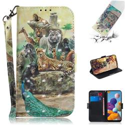 Beast Zoo 3D Painted Leather Wallet Phone Case for Samsung Galaxy A21