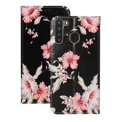 Azalea Flower PU Leather Wallet Case for Samsung Galaxy A21