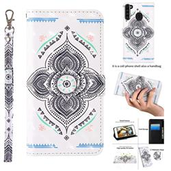 Mandala Totem 3D Painted Leather Wallet Case for Samsung Galaxy A21
