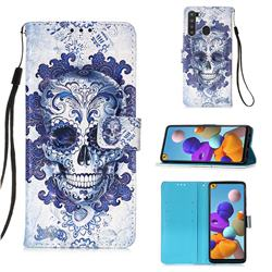 Cloud Kito 3D Painted Leather Wallet Case for Samsung Galaxy A21