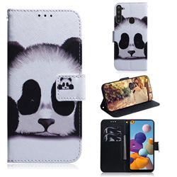 Sleeping Panda PU Leather Wallet Case for Samsung Galaxy A21