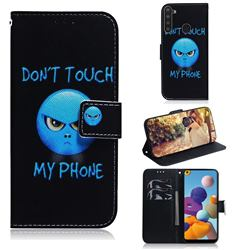 Not Touch My Phone PU Leather Wallet Case for Samsung Galaxy A21