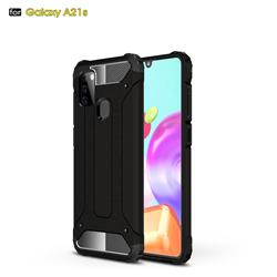 King Kong Armor Premium Shockproof Dual Layer Rugged Hard Cover for Samsung Galaxy A21s - Black Gold
