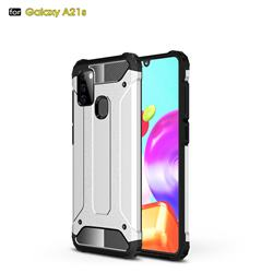 King Kong Armor Premium Shockproof Dual Layer Rugged Hard Cover for Samsung Galaxy A21s - White