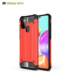 King Kong Armor Premium Shockproof Dual Layer Rugged Hard Cover for Samsung Galaxy A21s - Big Red