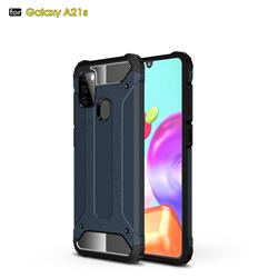 King Kong Armor Premium Shockproof Dual Layer Rugged Hard Cover for Samsung Galaxy A21s - Navy