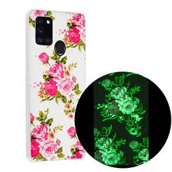 Peony Noctilucent Soft TPU Back Cover for Samsung Galaxy A21s