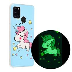 Stars Unicorn Noctilucent Soft TPU Back Cover for Samsung Galaxy A21s