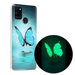 Butterfly Noctilucent Soft TPU Back Cover for Samsung Galaxy A21s