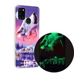 Wolf Howling Noctilucent Soft TPU Back Cover for Samsung Galaxy A21s