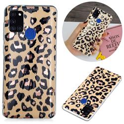 Leopard Galvanized Rose Gold Marble Phone Back Cover for Samsung Galaxy A21s