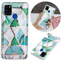 Green White Galvanized Rose Gold Marble Phone Back Cover for Samsung Galaxy A21s