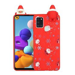 Snowflakes Gloves Christmas Xmax Soft 3D Doll Silicone Case for Samsung Galaxy A21s