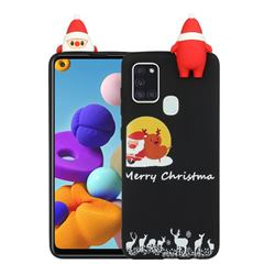 Santa Elk on Moon Christmas Xmax Soft 3D Doll Silicone Case for Samsung Galaxy A21s