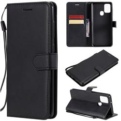 Retro Greek Classic Smooth PU Leather Wallet Phone Case for Samsung Galaxy A21s - Black