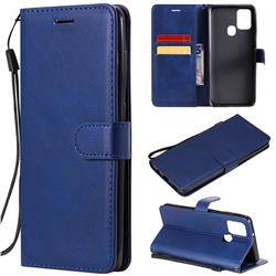 Retro Greek Classic Smooth PU Leather Wallet Phone Case for Samsung Galaxy A21s - Blue