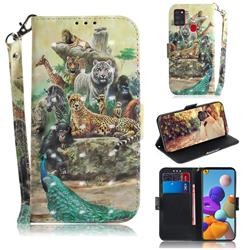 Beast Zoo 3D Painted Leather Wallet Phone Case for Samsung Galaxy A21s
