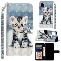Kitten Cat 3D Leather Phone Holster Wallet Case for Samsung Galaxy A21s
