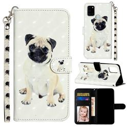 Pug Dog 3D Leather Phone Holster Wallet Case for Samsung Galaxy A21s