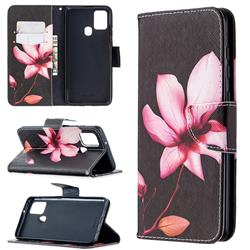 Lotus Flower Leather Wallet Case for Samsung Galaxy A21s