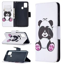 Lovely Panda Leather Wallet Case for Samsung Galaxy A21s