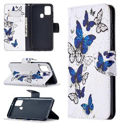 Flying Butterflies Leather Wallet Case for Samsung Galaxy A21s