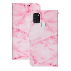 Pink Marble PU Leather Wallet Case for Samsung Galaxy A21s