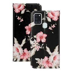 Azalea Flower PU Leather Wallet Case for Samsung Galaxy A21s