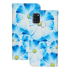 Orchid Flower PU Leather Wallet Case for Samsung Galaxy A21s