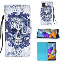 Cloud Kito 3D Painted Leather Wallet Case for Samsung Galaxy A21s