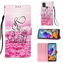 Beautiful 3D Painted Leather Wallet Case for Samsung Galaxy A21s