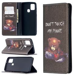 Chainsaw Bear Slim Magnetic Attraction Wallet Flip Cover for Samsung Galaxy A21s