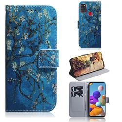 Apricot Tree PU Leather Wallet Case for Samsung Galaxy A21s