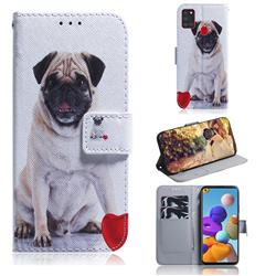 Pug Dog PU Leather Wallet Case for Samsung Galaxy A21s