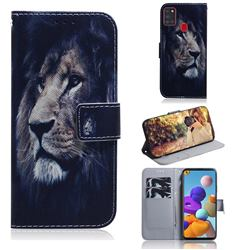 Lion Face PU Leather Wallet Case for Samsung Galaxy A21s