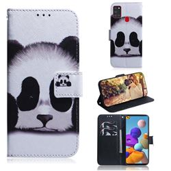 Sleeping Panda PU Leather Wallet Case for Samsung Galaxy A21s