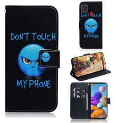 Not Touch My Phone PU Leather Wallet Case for Samsung Galaxy A21s