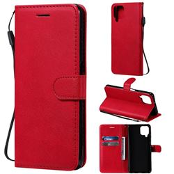 Retro Greek Classic Smooth PU Leather Wallet Phone Case for Samsung Galaxy A22 4G - Red